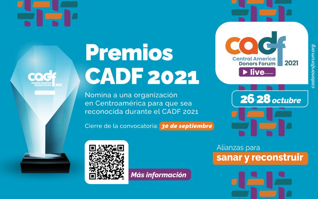 Convocatoria abierta para nominaciones a los Premios CADF 2021
